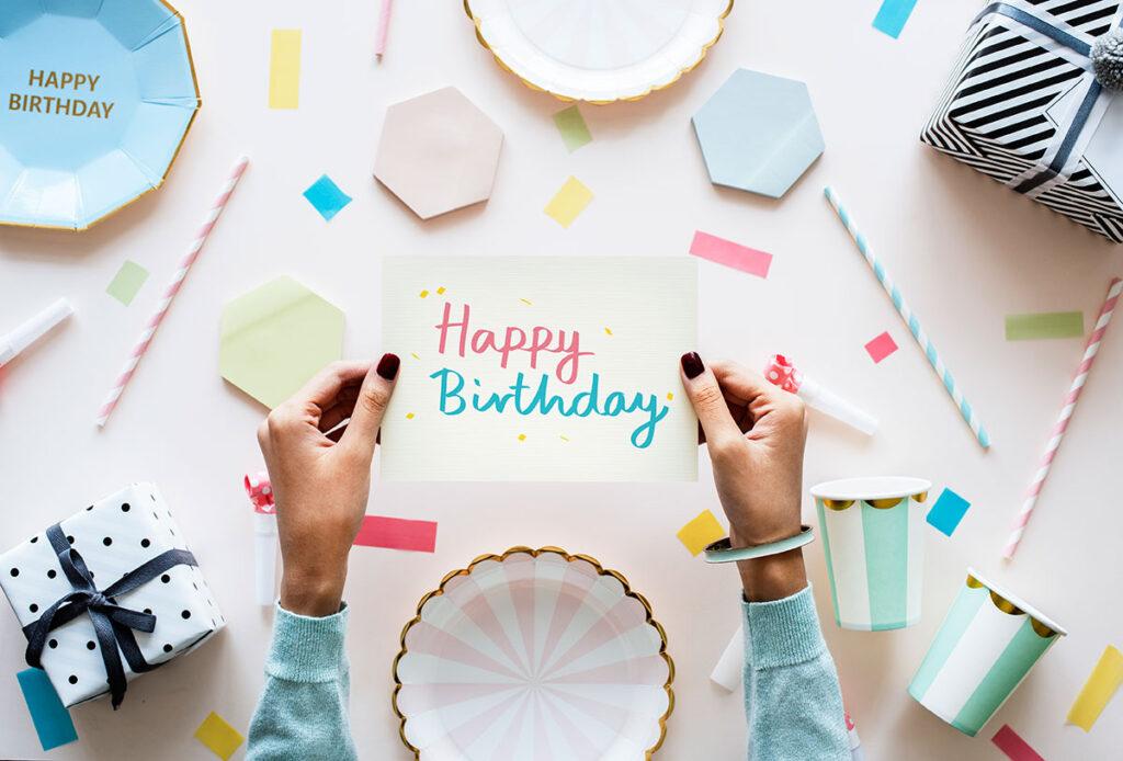 verjaardag kaart uitnodiging